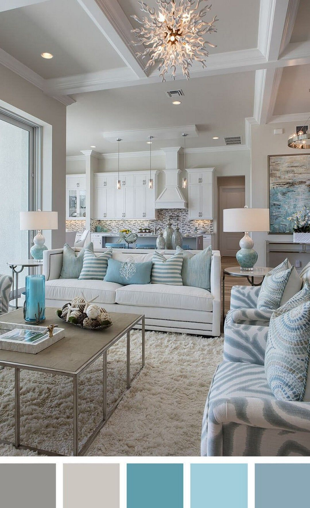 10 Gorgeous And Modern Chic Home Decor Ideas To Improve In Many Ways Coastal Decorating Living Room Coastal Living Rooms Farm House Living Room