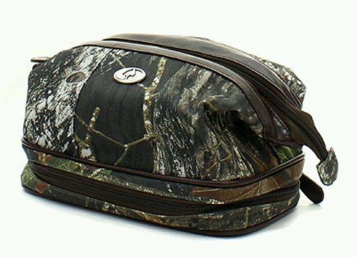 5a1ee34b1e Mens MOSSY OAK Camouflage Travel Shaving Toiletry Bag Shave Kit Camo  Western NWT