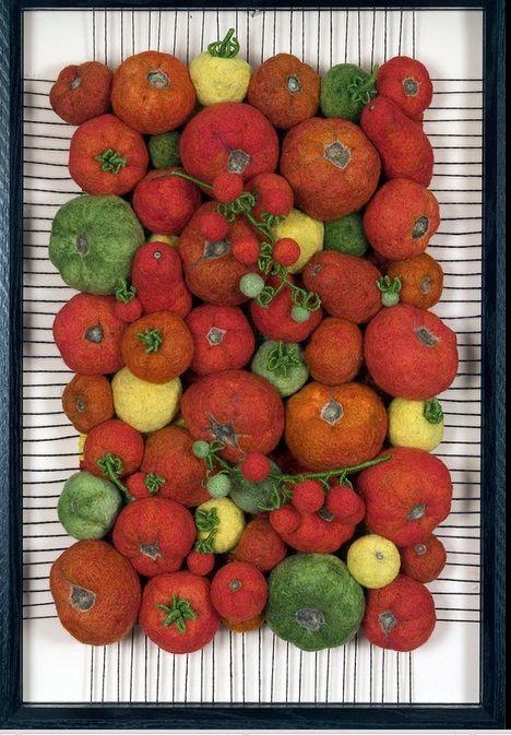 bd503c5ab564 Буквально несколько дней назад, я встретила в сети очень интересную  фотографию, с валяными овощами, собранными в композицию. Очень интересно  было найти ...
