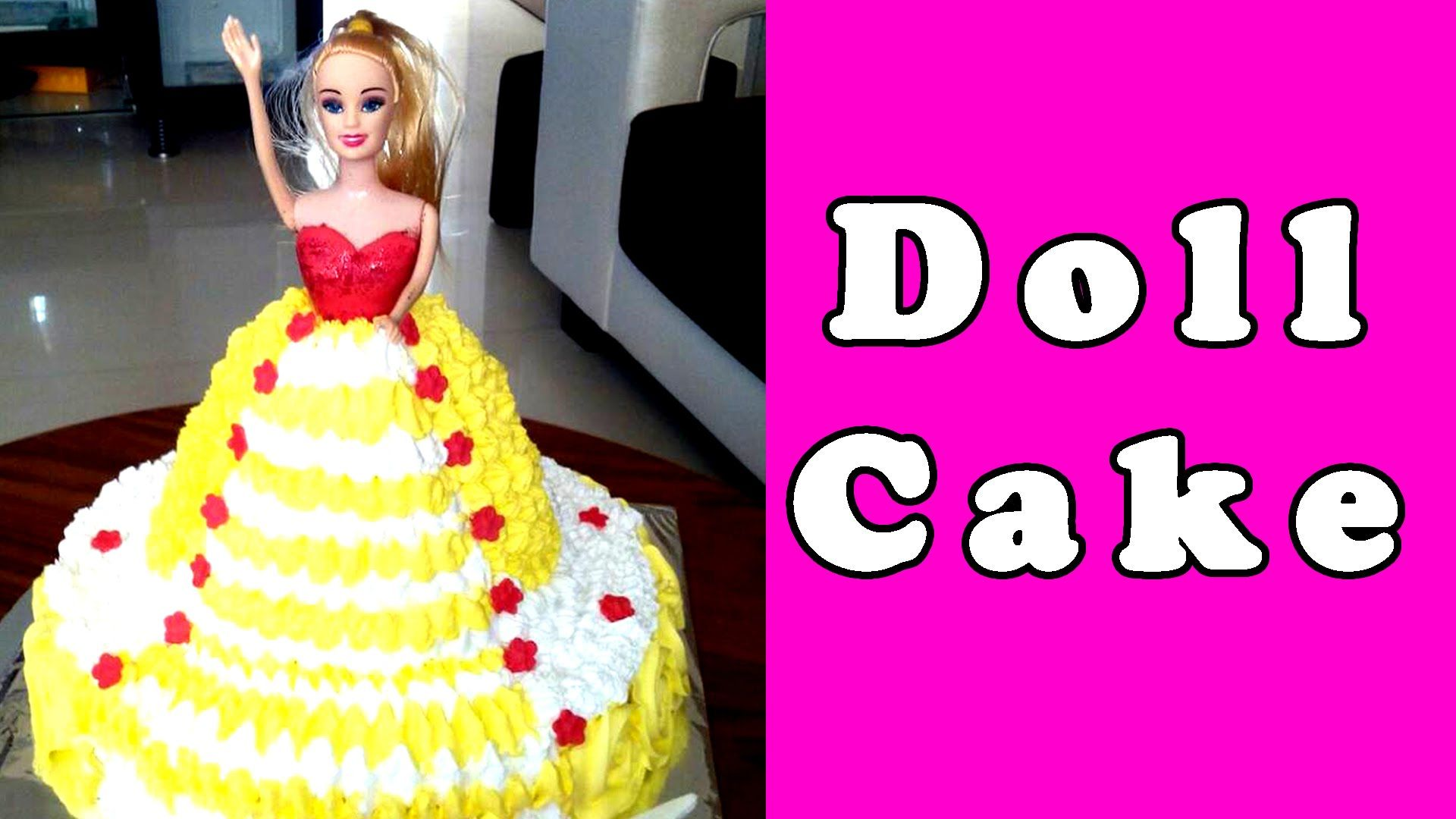 How To Make Doll Cake At Home In Hindi