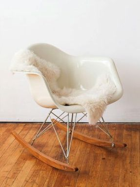 Eames Rocking Chair + Sheepskin