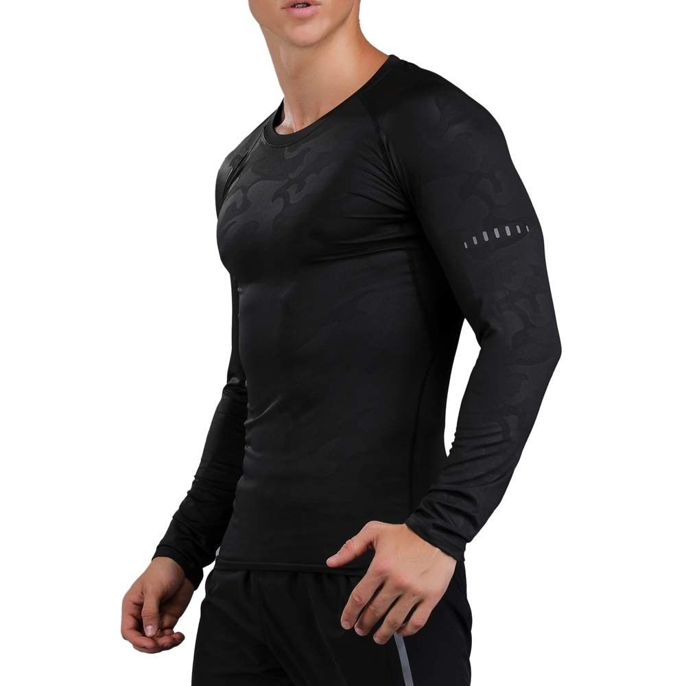Mens Cool Dry Compression Top Athletic Sports Workout Tops Moisture Wicking Workout T-Shirts