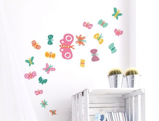 Babyzimmer Wandsticker ~ Wandsticker schmetterlinge für mädchen kinderzimmer