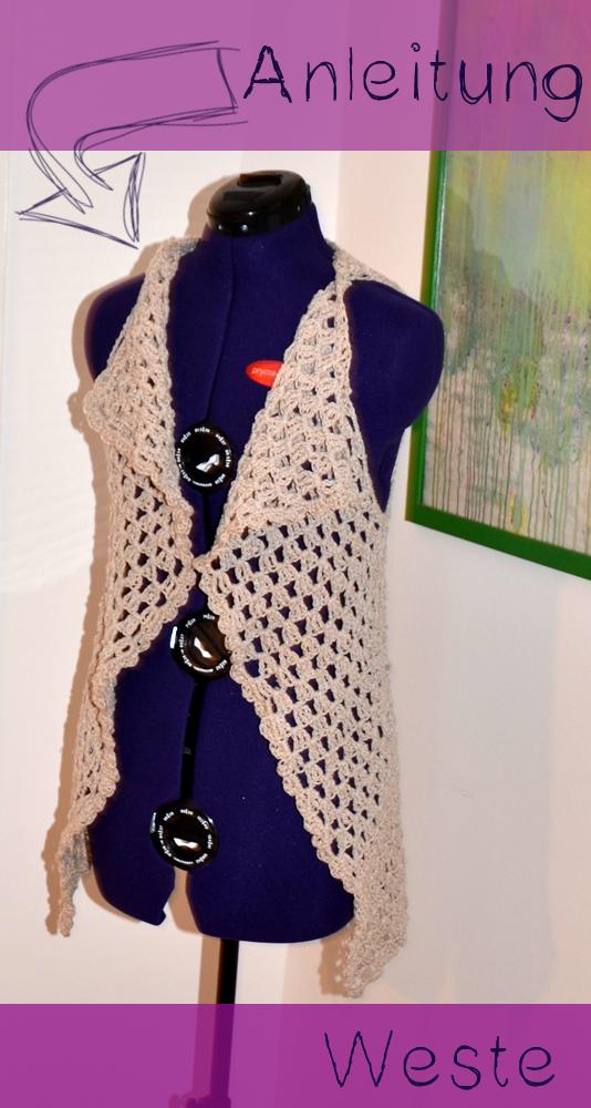 Freinaht Häkelweste Anleitung Anleitung Crochet Crochet