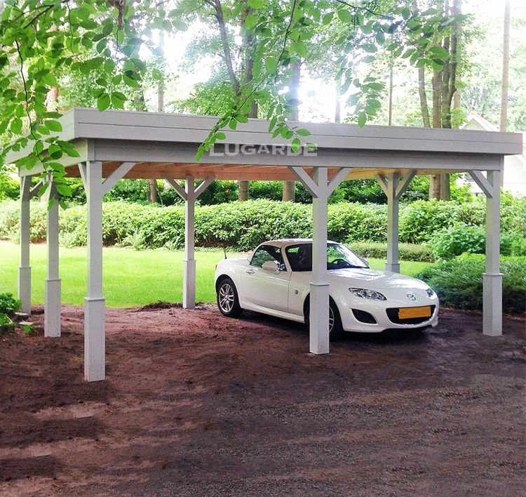 Flat Roof Carport Plans Size 540x420 cm Delivery time 5