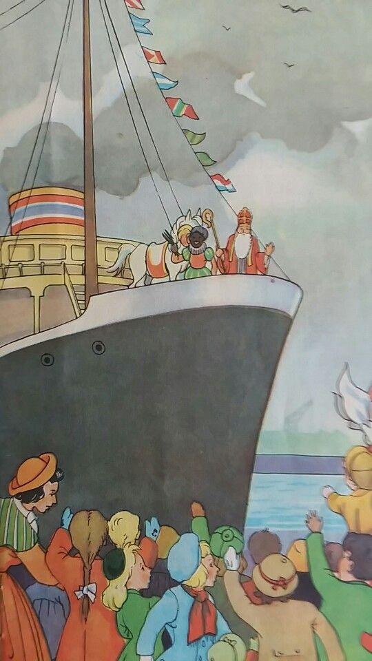 Sinterklaas en Pieterbaas op de stoomboot