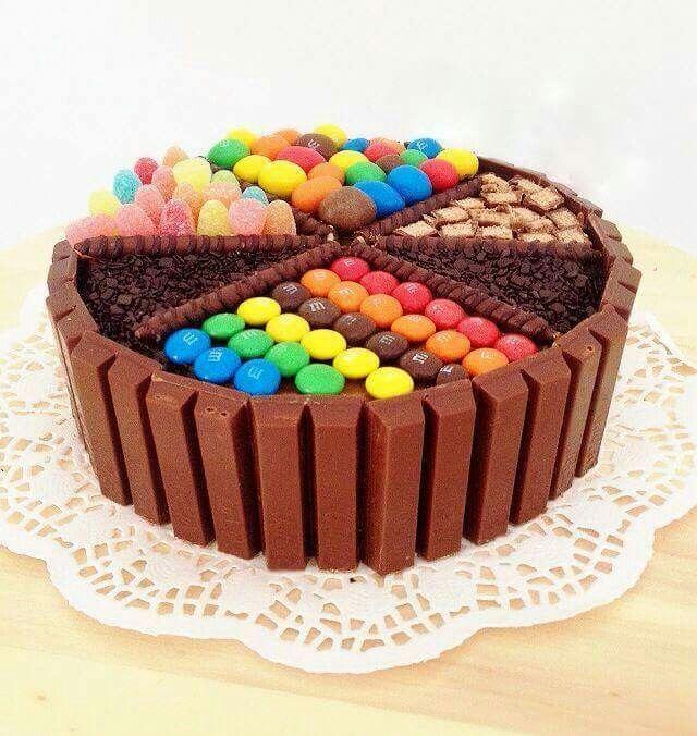 Torta di vaniglia e caramelle, Candy cake