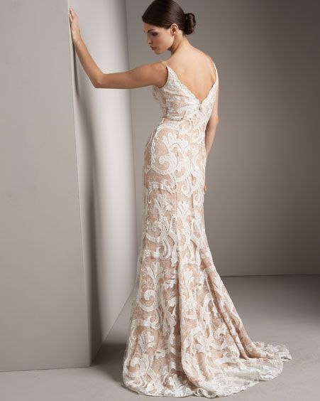 White Burnout Velvet Overlay On A Blush Ivory Or Nude This Is The Inspiration For THE Dress