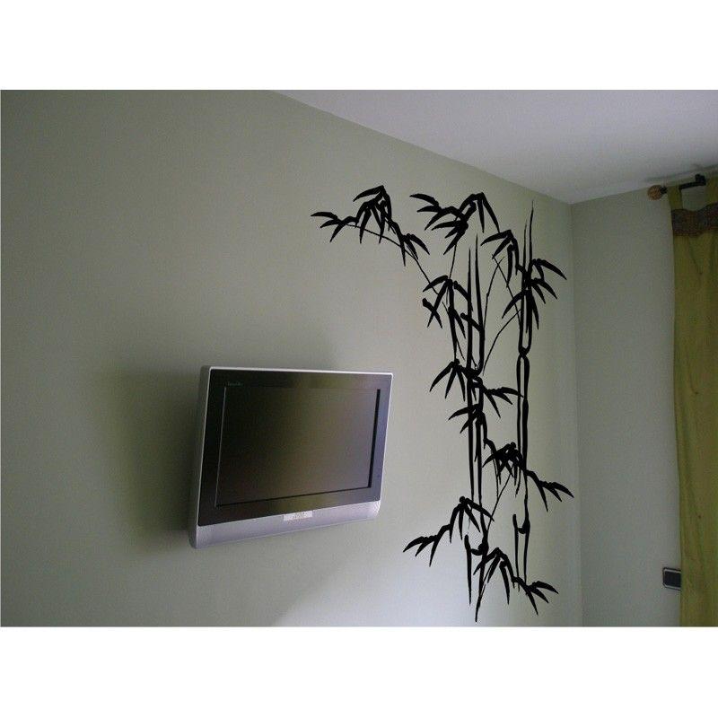 hojas de bamb vinilo decorativo floral vinilos