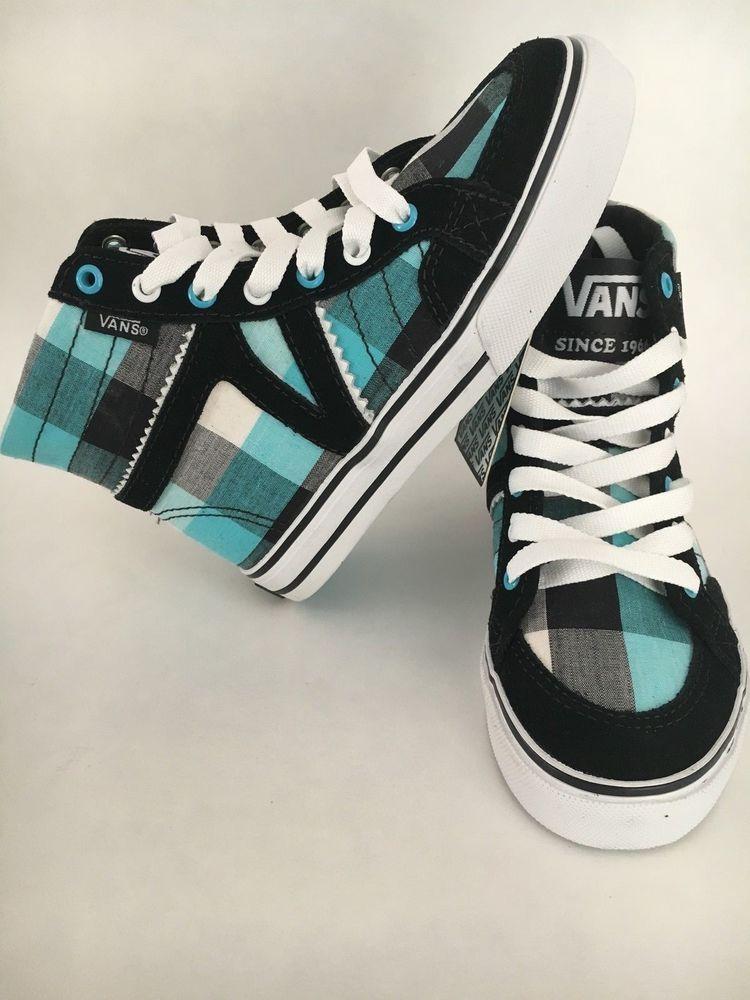 nib! vans corrie high-top skate shoes - small girls sizes 10.5 11 11.5 d60388bff