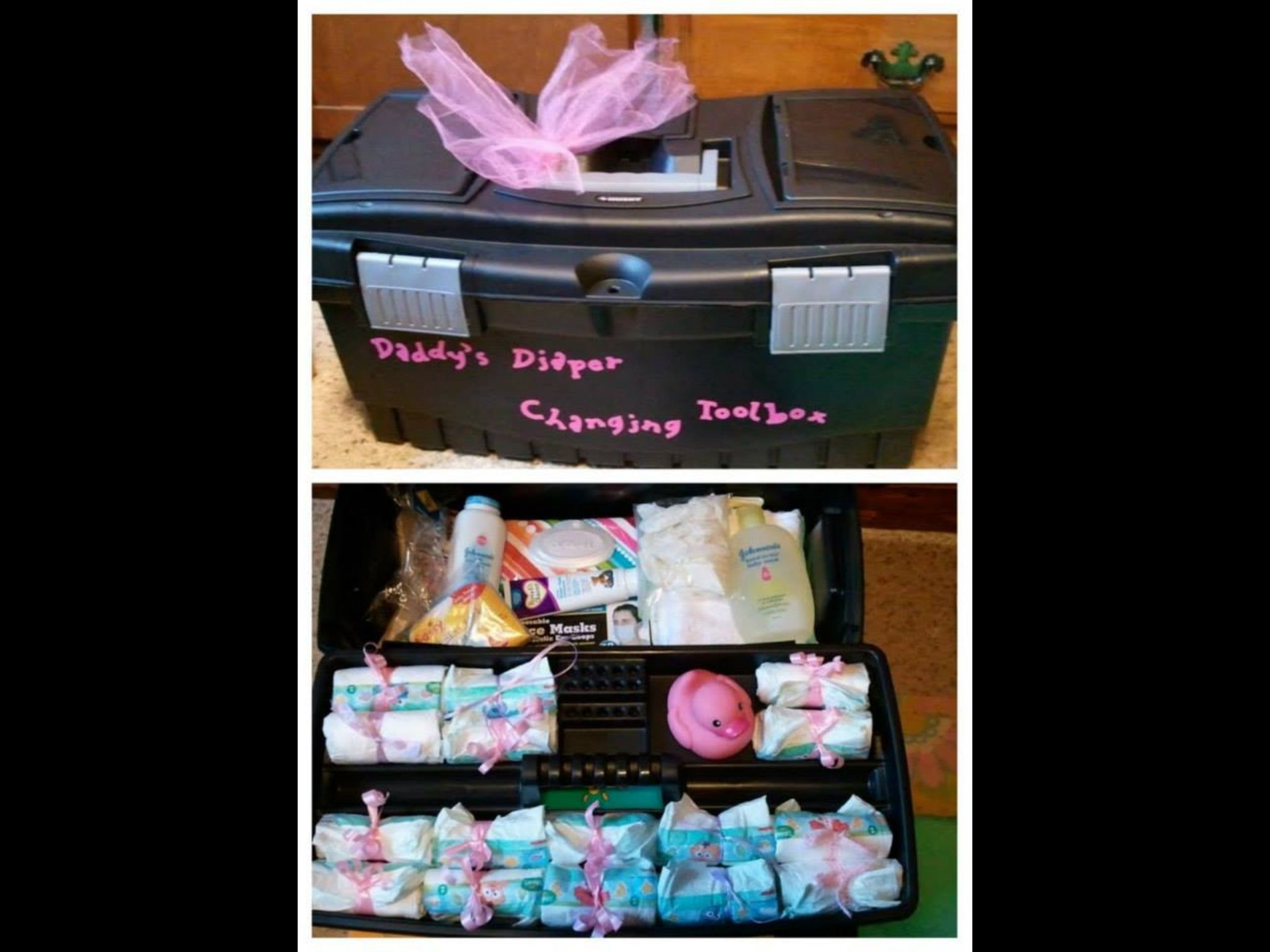 daddy tool box diaper changing kit crafts pinterest diapers