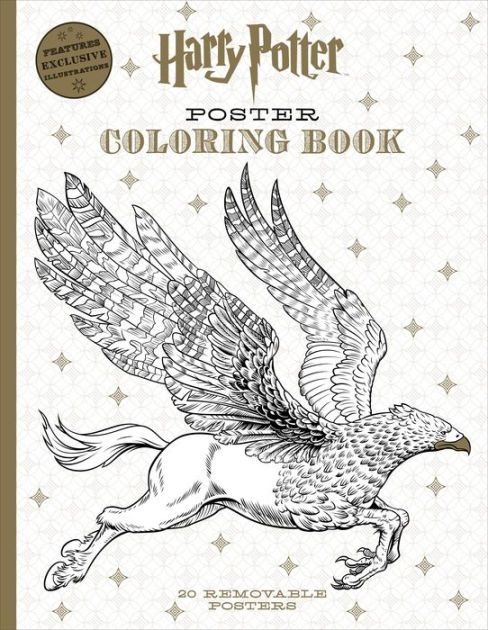 Harry Potter Poster Coloring Book By Scholastic
