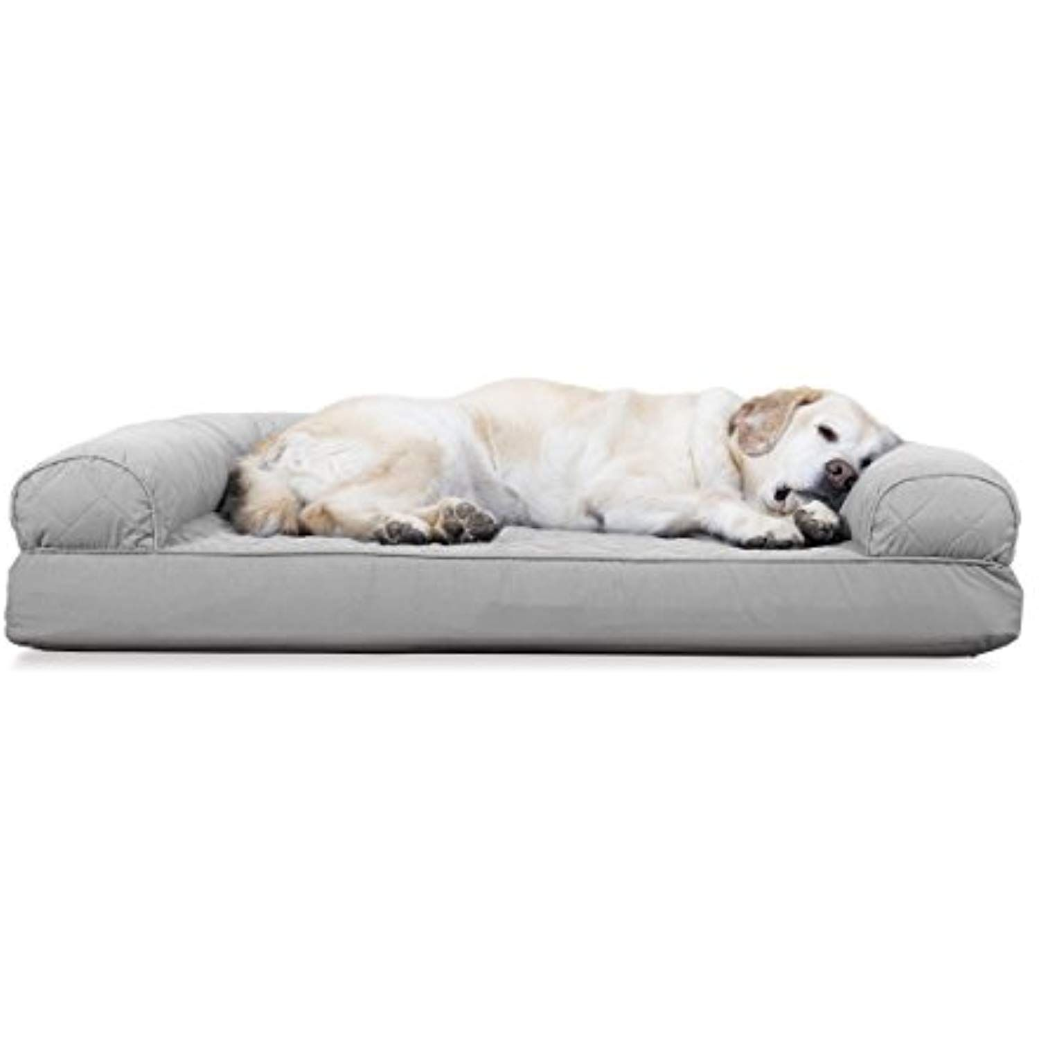 Furhaven Cooling Gel Memory Foam Orthopedic Quilted Dog Couch Sofa