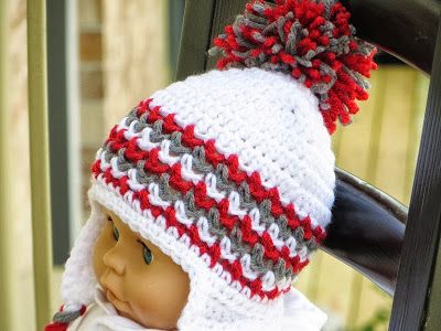 Ear Flap Hat Crochet Pattern For Boys And Girls Newborn To Man