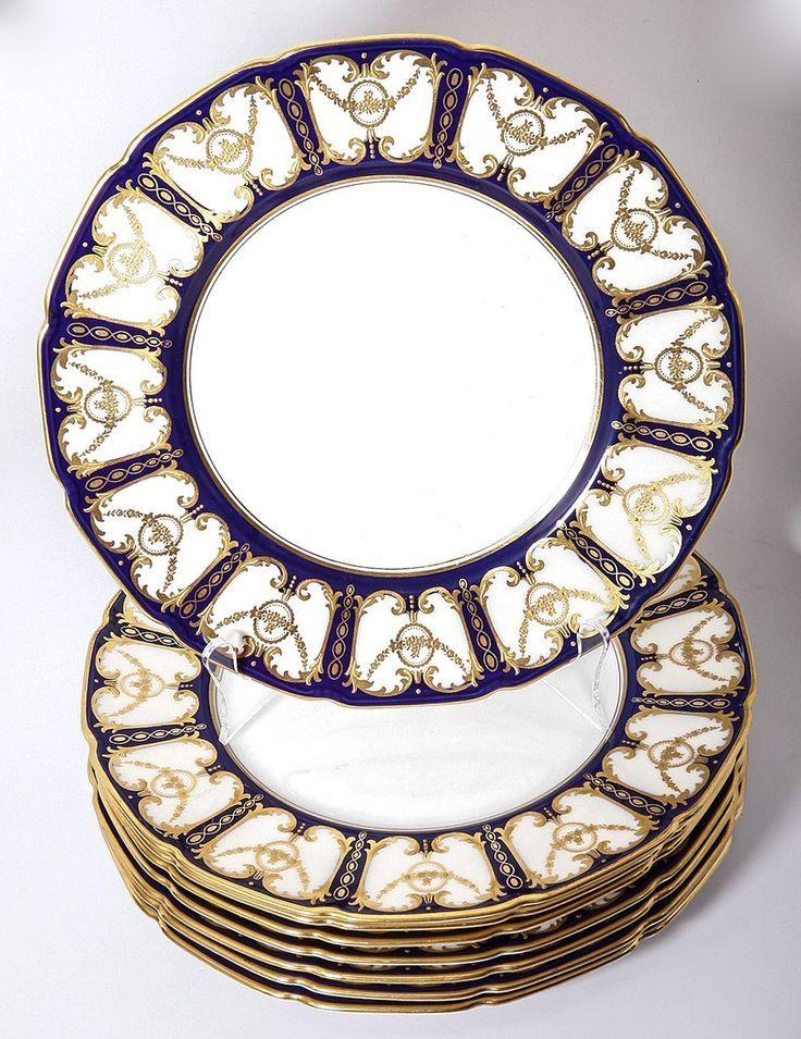 vintage royal doulton china patterns | 1921 Royal Doulton Dinner Plate Set (11) HP Encrusted Raised Gold .  sc 1 st  Pinterest & vintage royal doulton china patterns | 1921 Royal Doulton Dinner ...