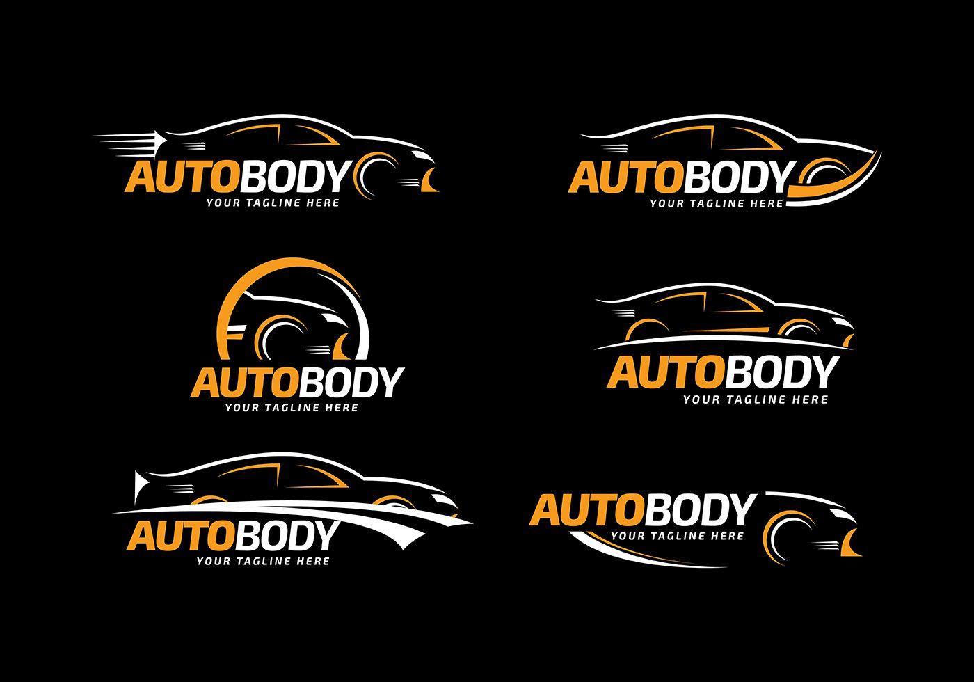 Collection car auto body logo template set of modern car