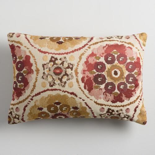 Warm Suzani Jacquard Lumbar Pillow World Market Apartment Redo