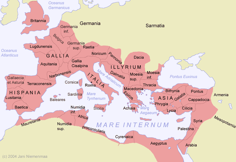 Cities and Territories of Ancient Rome | Roman empire map ...