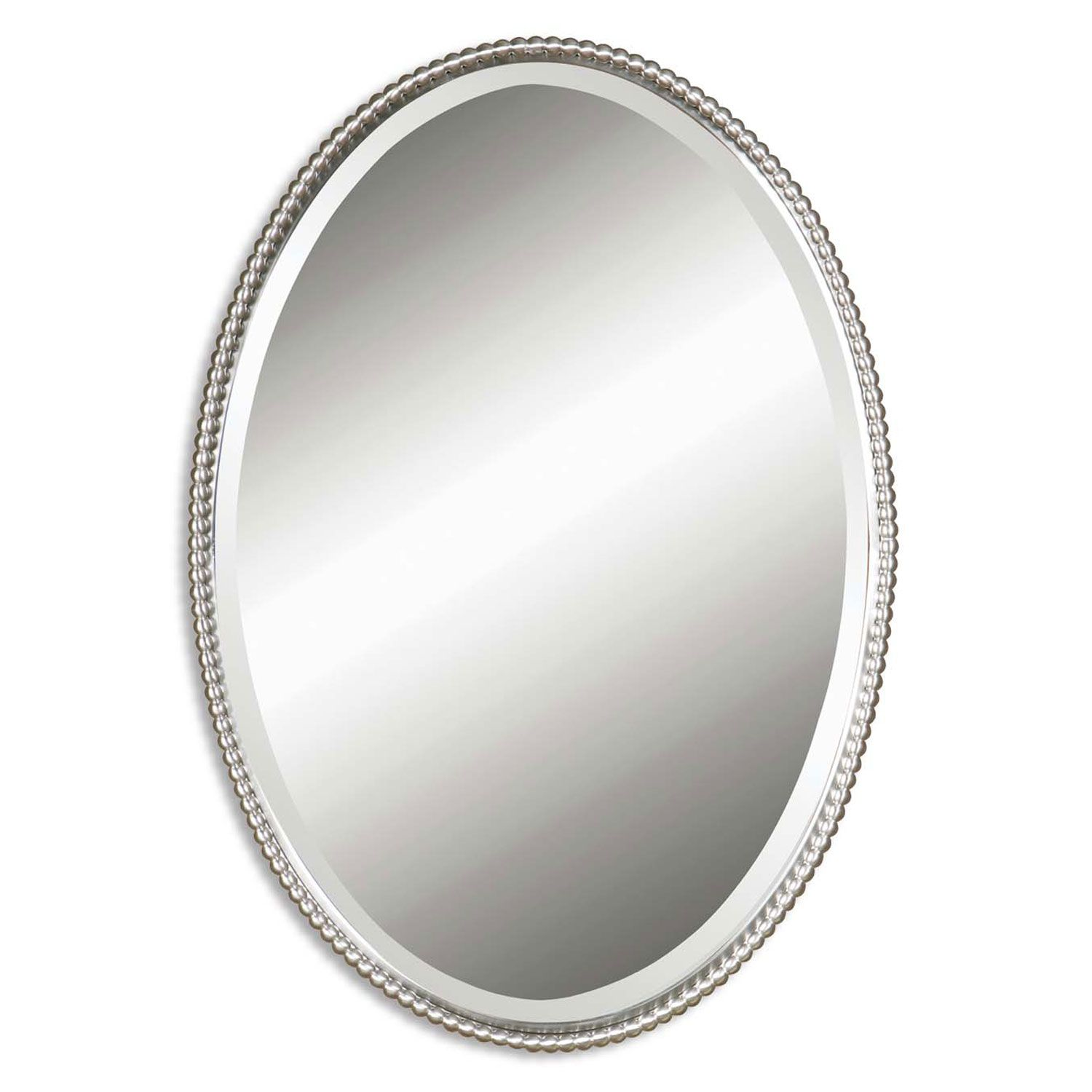 Oval Foyer Mirror : Uttermost sherise brushed nickel oval mirror