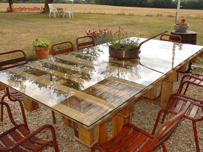 Une table de jardin en palettes - recyclage et Cie . . . | Pallet ...