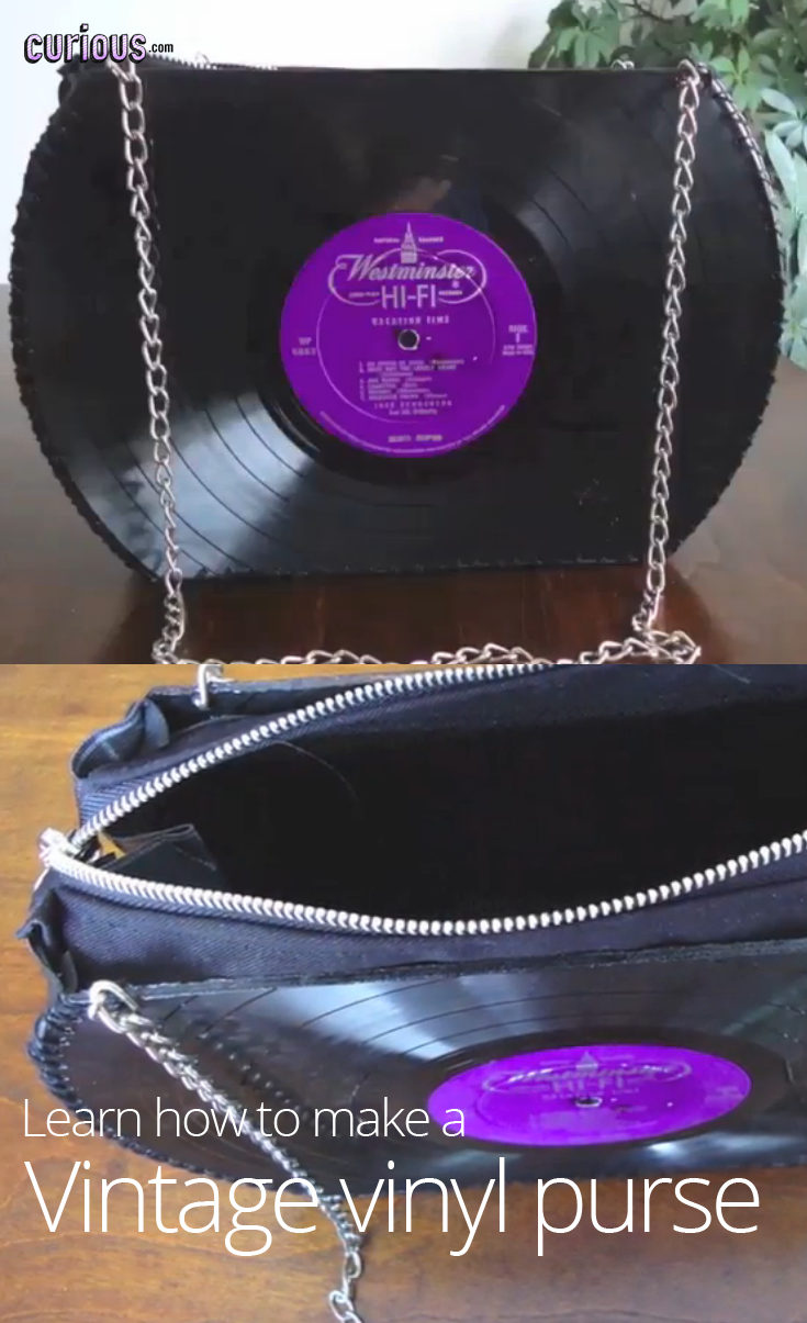 Make a vintage purse out of vinyl records | DIY Ideas + Lessons