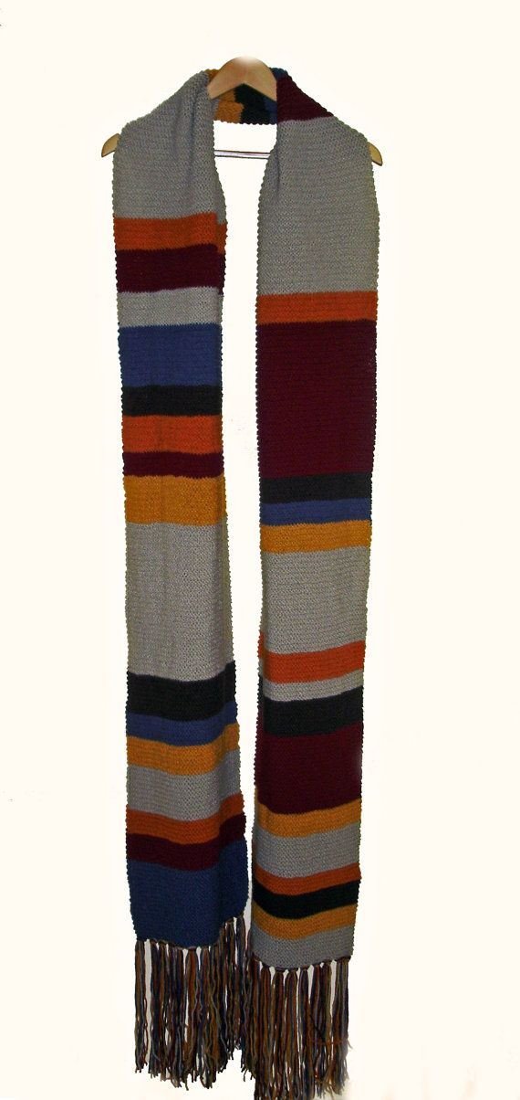 Dr Who Inspired Tom Baker Style Extra Long Scarf | Pinterest