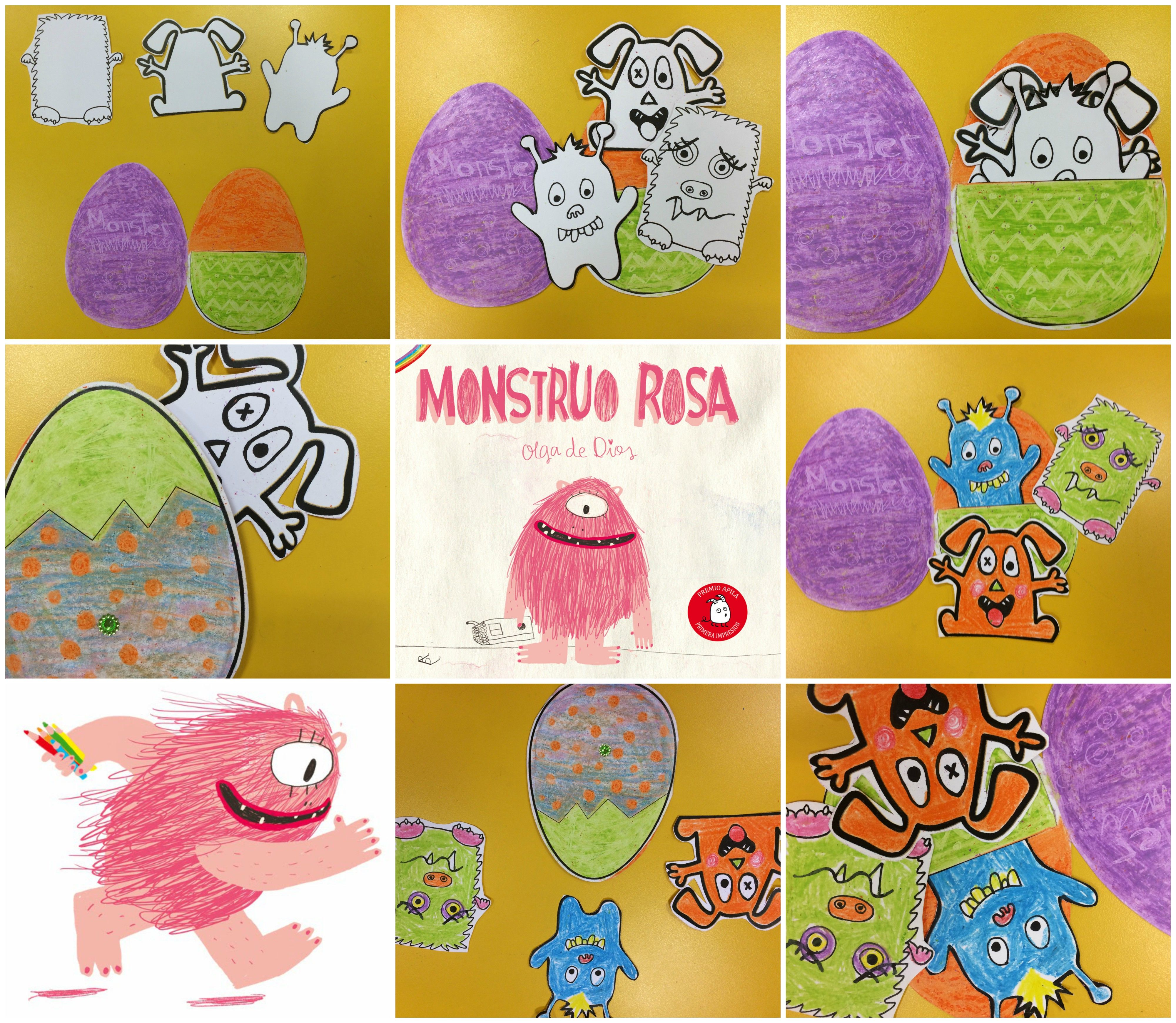Actividad Para El Cuento Monstruo Rosa Olga De Dios Apila Ediciones Taller De Lectura Monstruos Cuentos