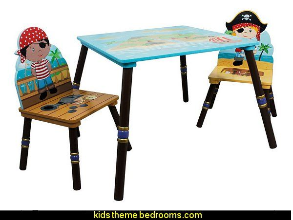 Decorating Theme Bedrooms Maries Manor Pirate Bedrooms Pirate Themed Furniture Nautical Theme Deco Kids Wooden Table Kids Table Chair Set Kids Table Set