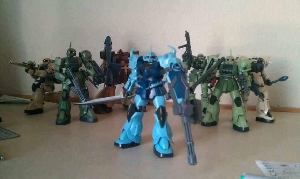 All my Zeon mobile suit model kits - Gundam