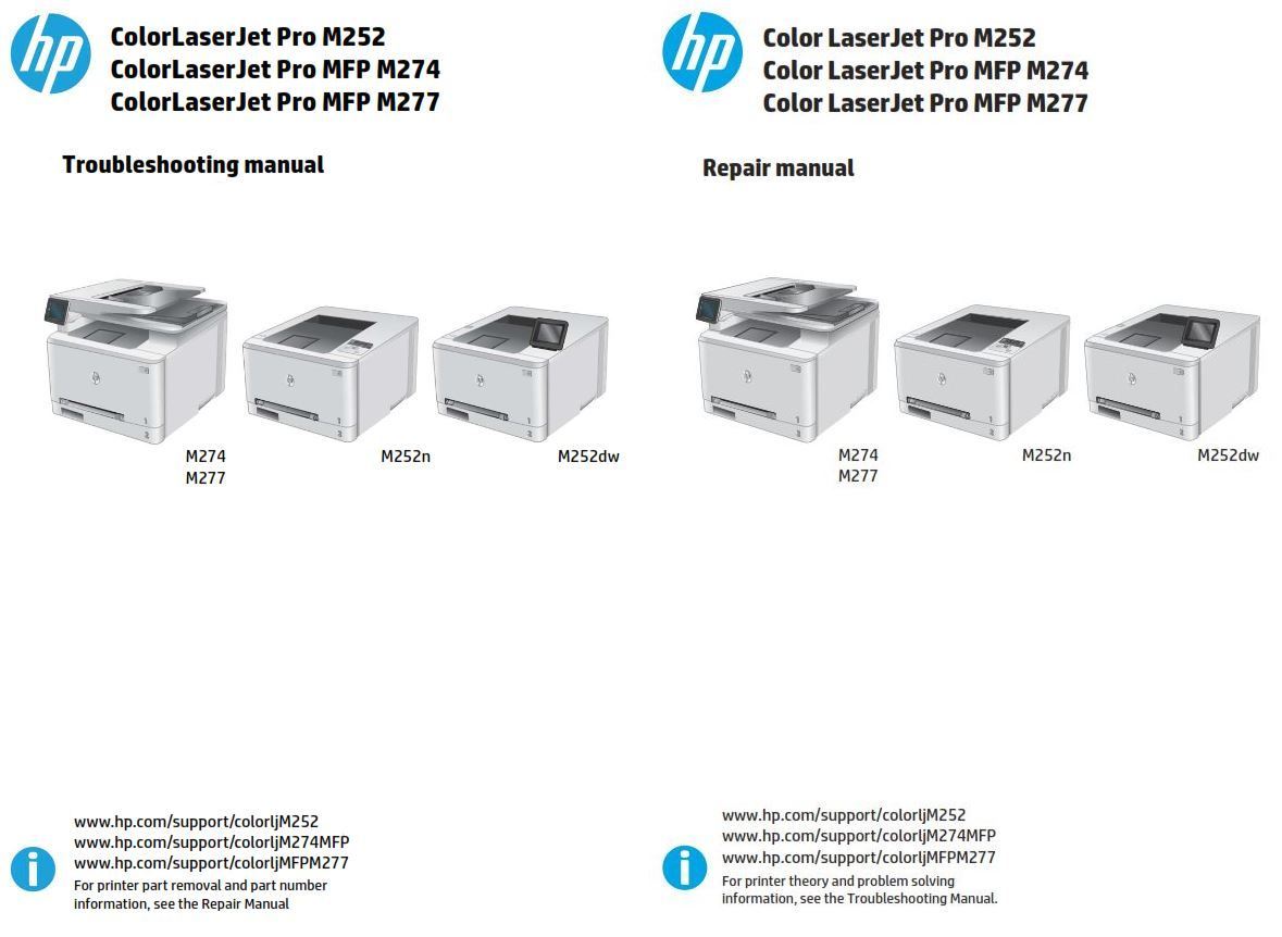 Hp Color Laserjet Pro Mfp M274 M252n M252dw M277 Service Repair Manual Repair Manuals Repair Guide Repair