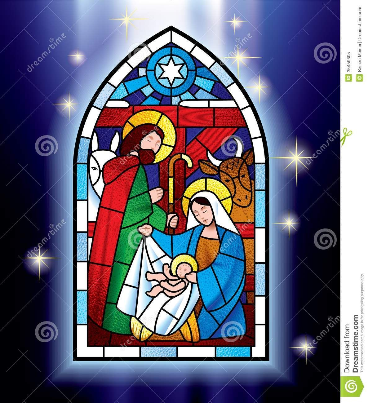 Stained Glass Windows Clip Art Christmas Window