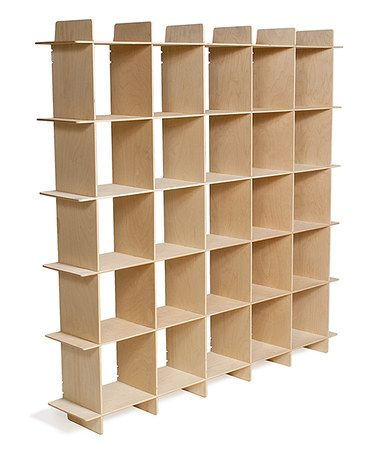 Another Great Find On Zulily Raw Baltic Birch 25 Cubby Mid Century Shelving Unit Zulilyfinds Mid Century Bookcase Bookcase Storage Cube Storage