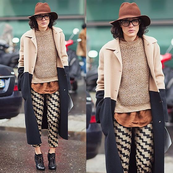 #stealthelook #look #looks #streetstyle #streetchic #moda #fashion #style #estilo #inspiration #inspired #calça #casaco #tricot #colorblock #coat #bege #preto