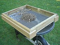 Building A Soil Sifter Screen To Remove Rocks Stones And Chunks From Dirt Compost
