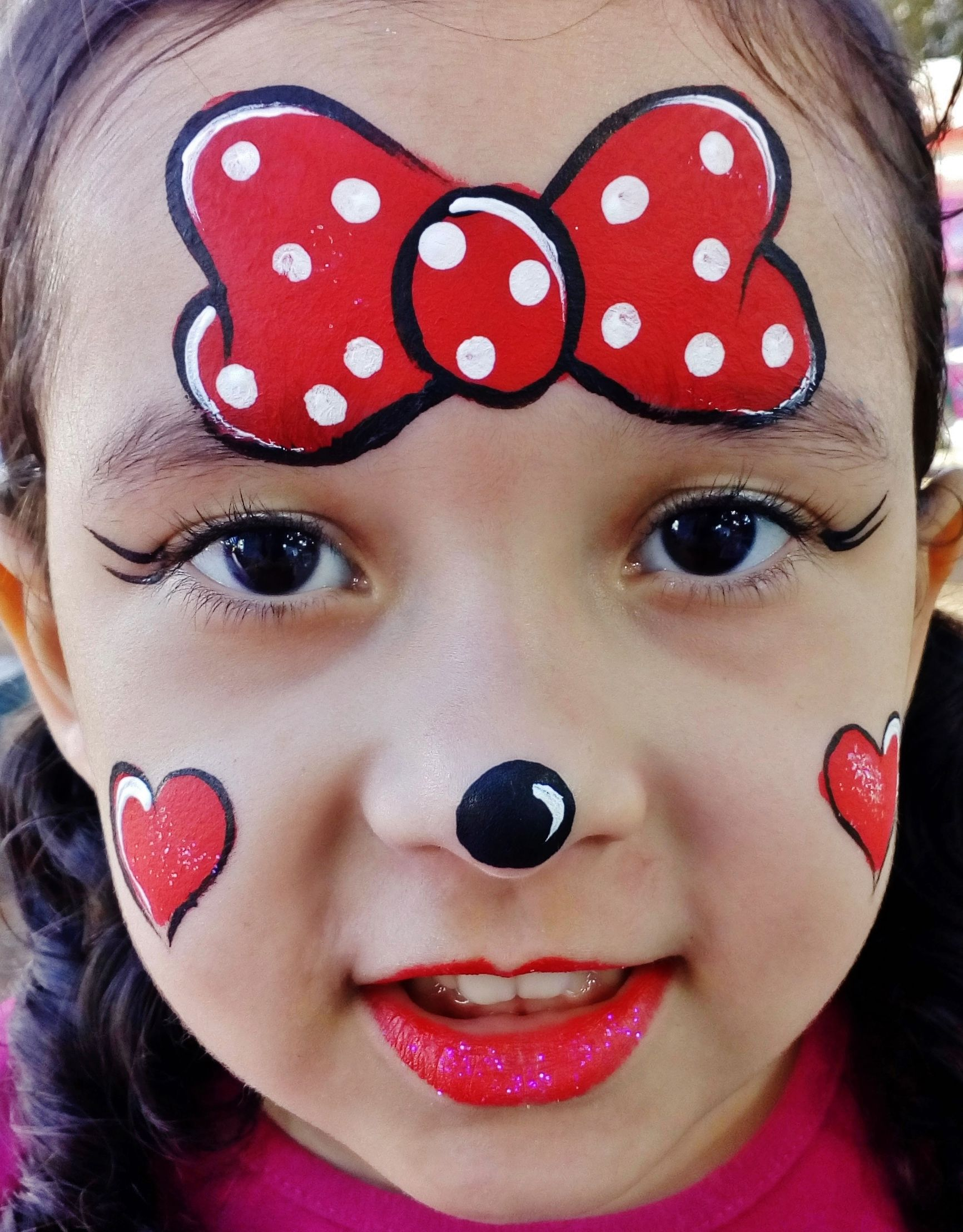 Pintura facial minnie minnie face painting pintura facial face painting pinterest - Pintura de cara ...