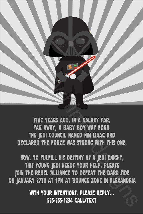 Star Wars Darth Vader Youth Printable Birthday By Bluegrasswhimsy