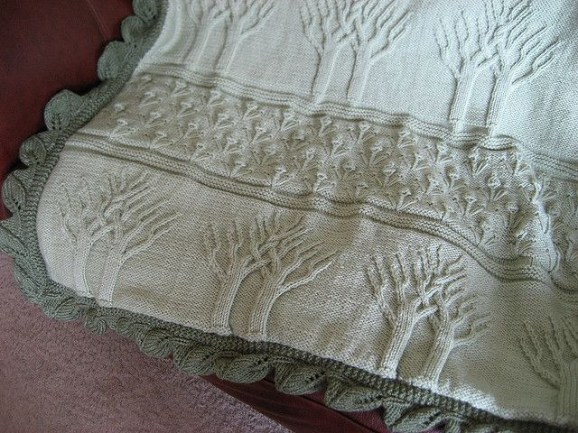 Tree of Life Afghan - Close Up | Knitted afghans, Afghans and Knit ...