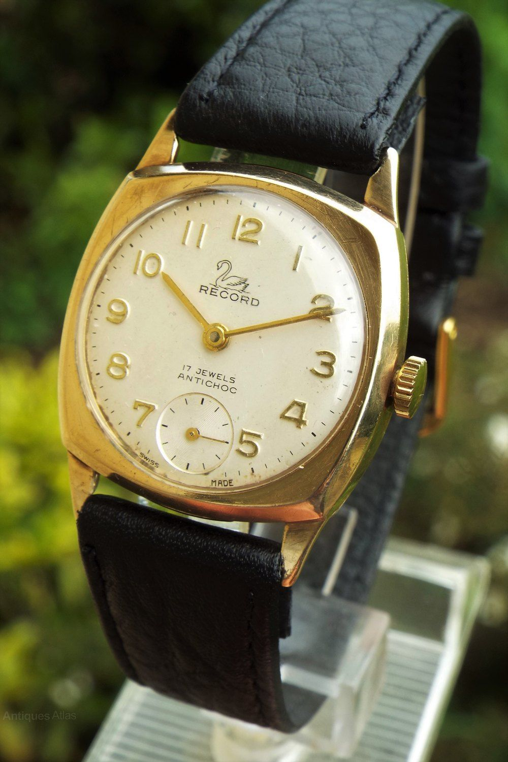 fd9c61931 Antiques Atlas - Gents 9ct Gold Record Wrist Watch, 1965 | Hodinky ...
