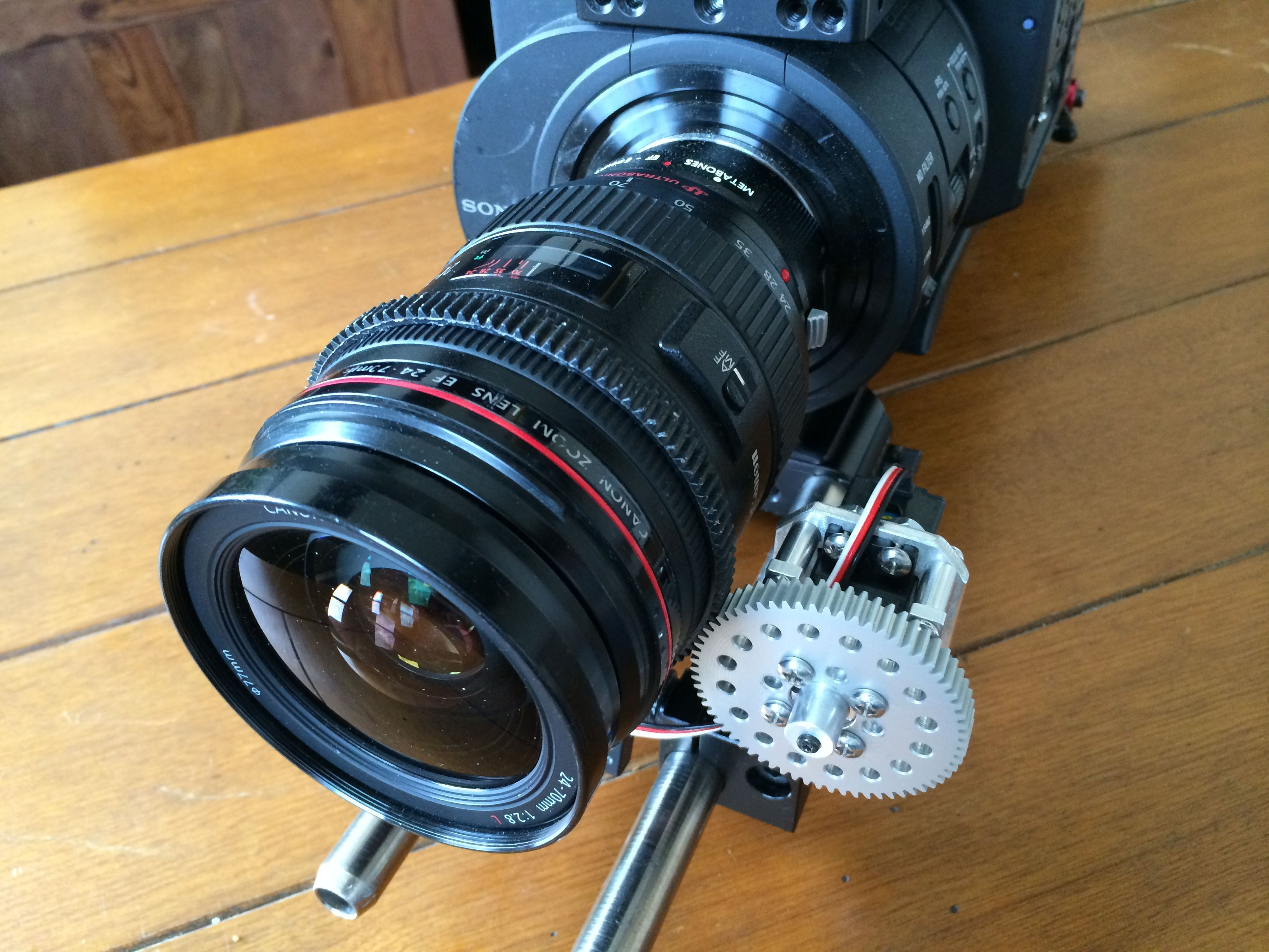 Jon B. has been working on building a remote focus motor for his video and stills cameras. Controlled by a micro controller and wireless module, it allows him to focus remotely with precision.