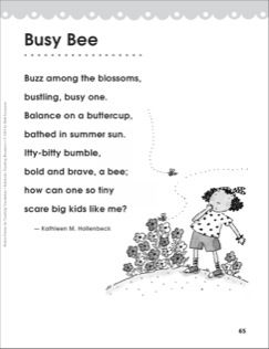 Busy Bee (Target Word - Balance): Perfect Poems for Teaching ...