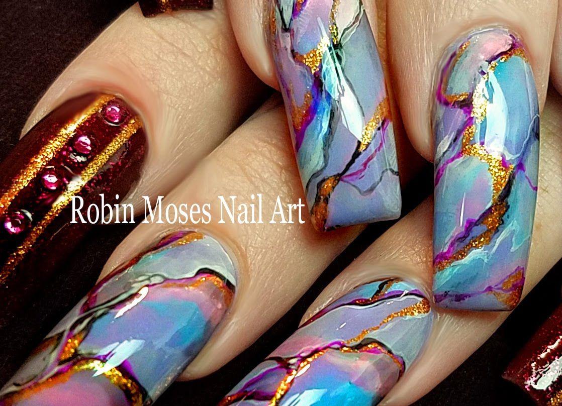 DIY Granite Nails | Diva Stone Effects Nail Art Design Tutorial ...
