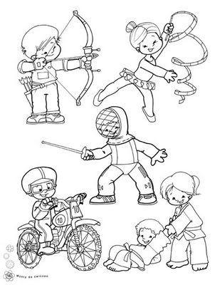 Imagenes De Revistas Maestras Jardineras Del Mundo Sacadas De La Web Deportes Para Colorear Juegos Olimpicos Para Ninos Deportes Dibujos
