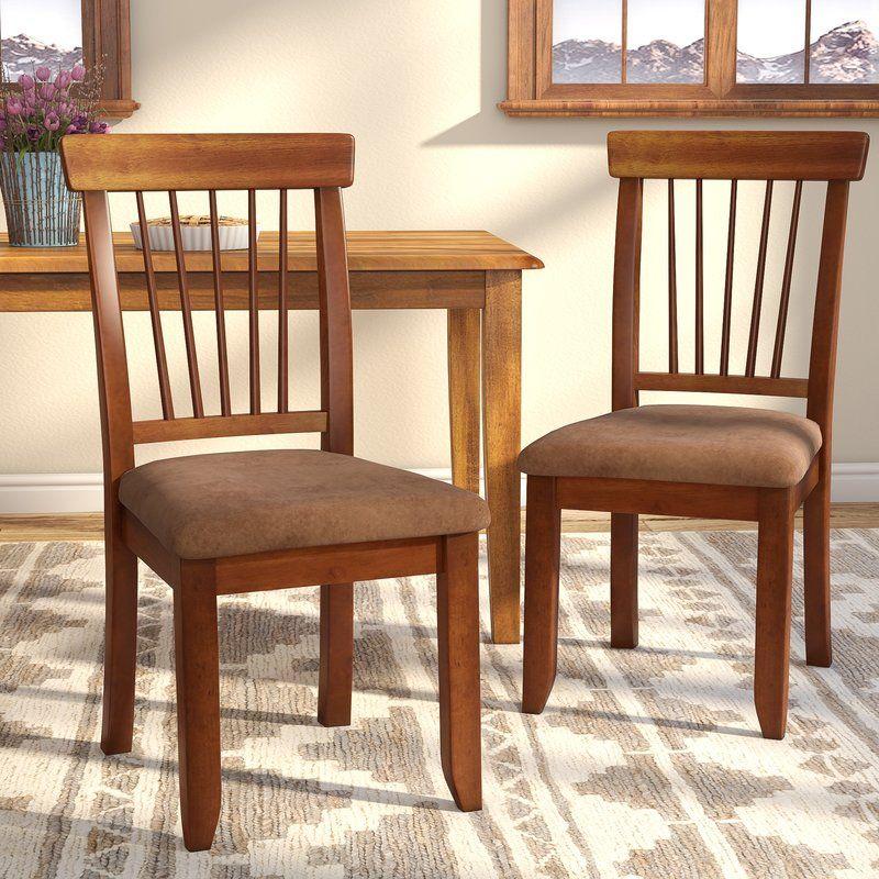 Solange Upholstered Slat Back Side Chair Dining Chairs Solid Wood Dining Chairs Oak Dining Room