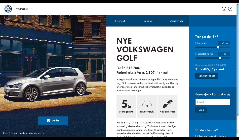 Http Taktisk Volkswagen No Golf Volkswagen Showroom Volkswagen Web Design