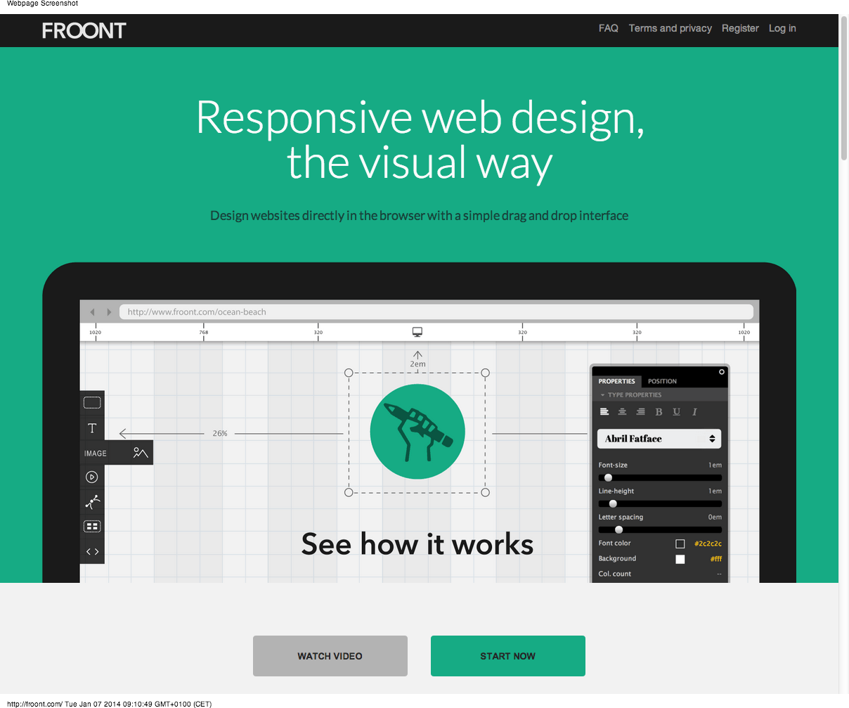 FROONT – design responsive websites in the browser (boilerplate ...
