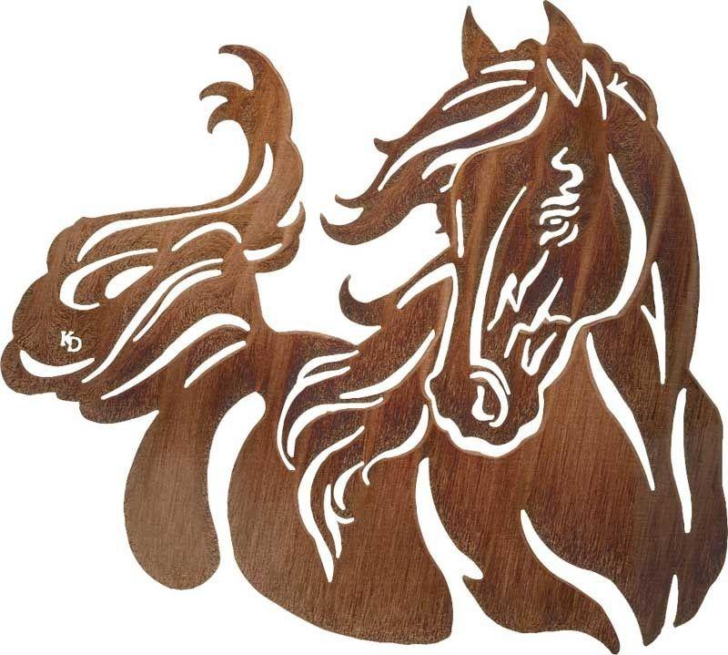 Windy (Romantic Horse) Wall Mount Laser Cut Art | 28\