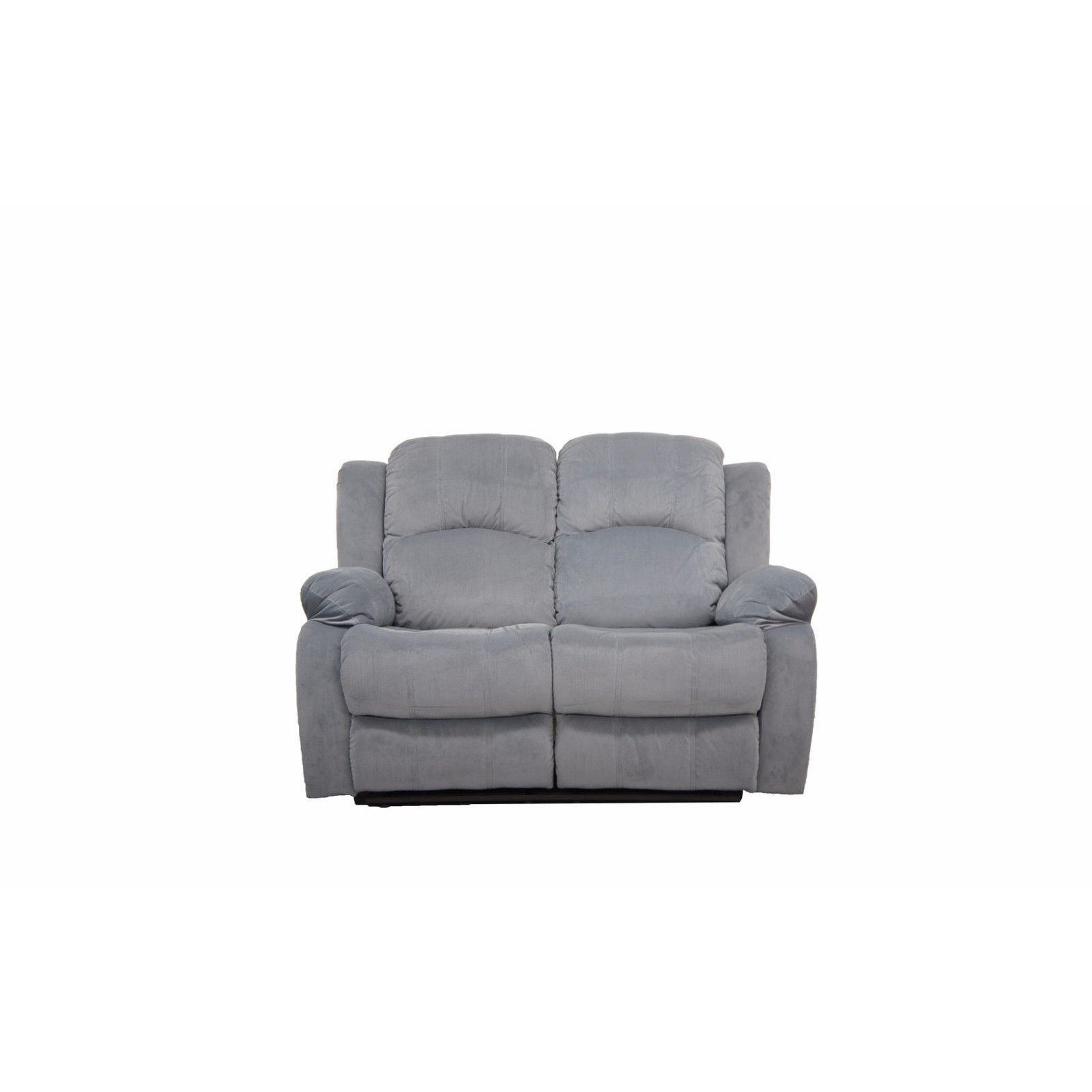 Madison Traditional Brushed Microfiber Recliner Loveseat