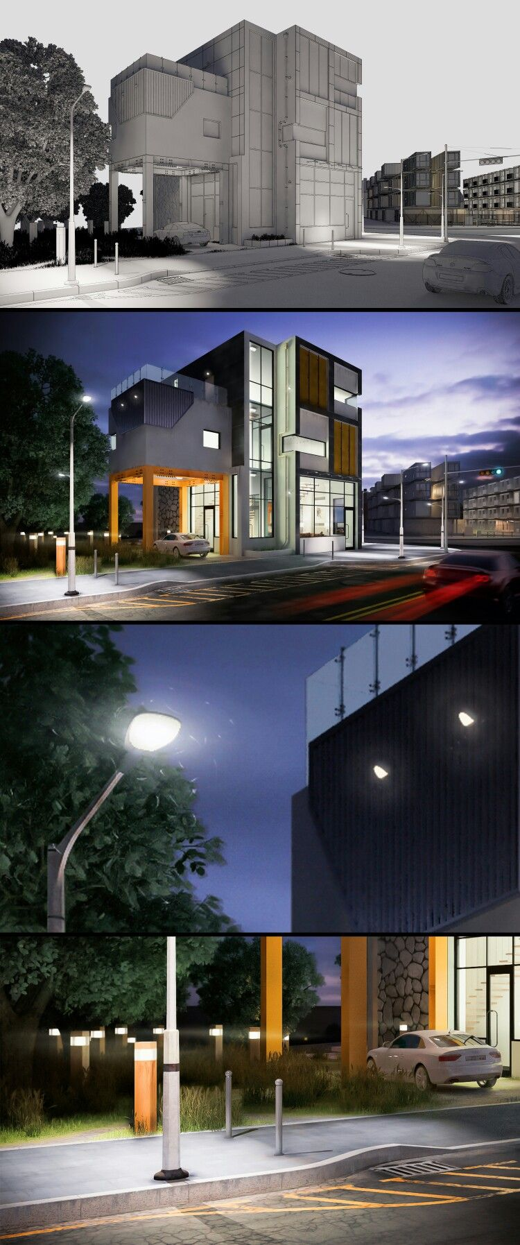 office exterior design use tool 3ds max vray photoshop exterior