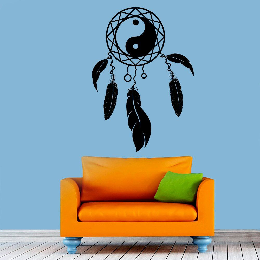 Wall Decals Dream Catcher Decal Dreamcatcher Feathers Hindu Birds ...