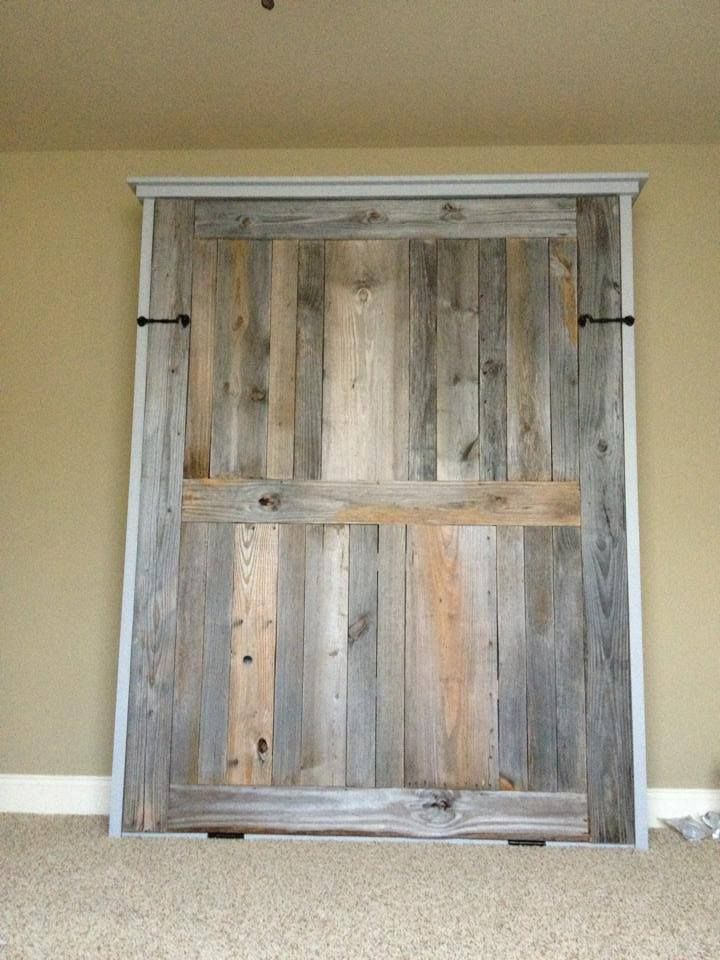 Queen Size Murphy Bed Pallet Wood For Bottom To Bed